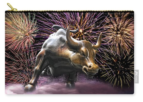 Wall Street Bull Fireworks Carry-all Pouch
