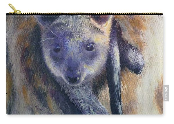 Carry-all Pouch featuring the painting Wallaby Joey by Ryn Shell