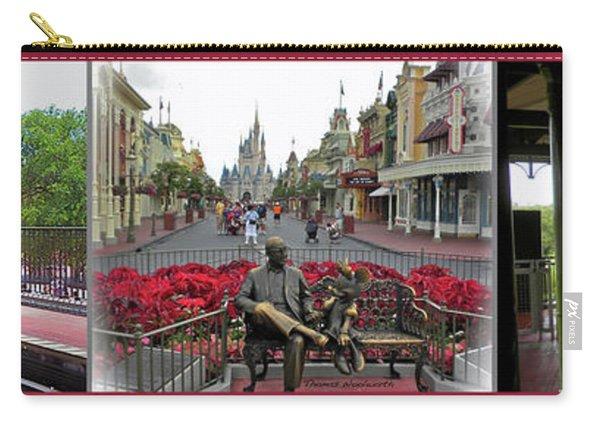 Walt Disney World Transportation 3 Panel Composite 02 Mp Carry-all Pouch