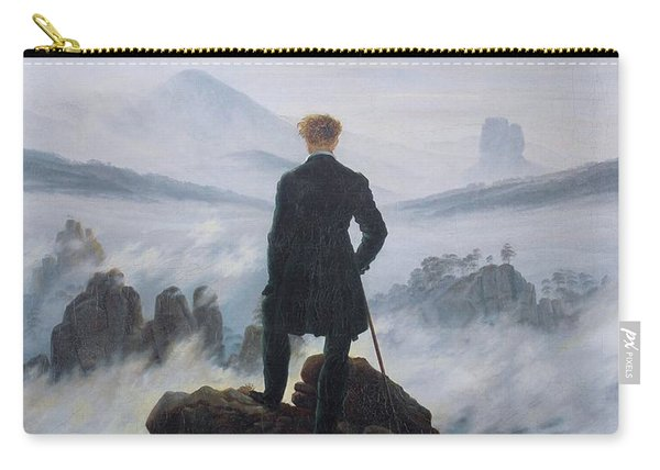 Wanderer Above The Sea Of Fog Carry-all Pouch