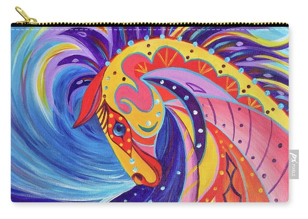 Carry-all Pouch featuring the painting War Horse by Nancy Cupp