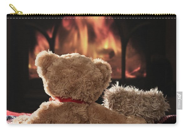 Warm And Cosy Teddies By The Fireside Carry-all Pouch