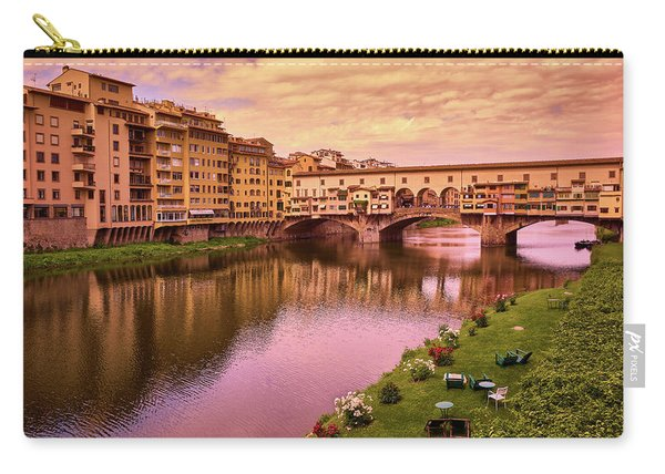 Sunset At Ponte Vecchio In Florence, Italy Carry-all Pouch