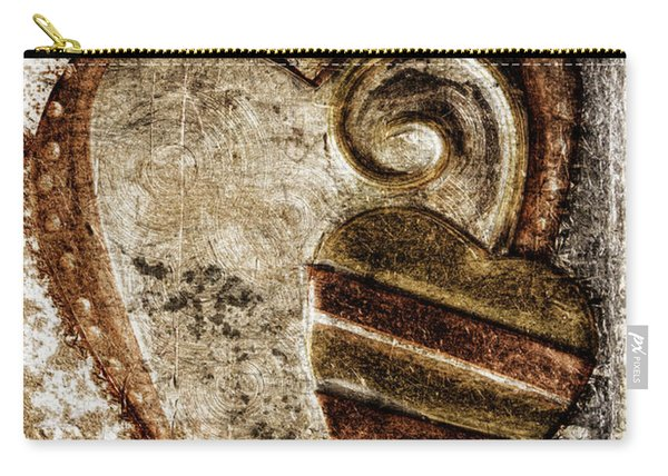 Warm Love Metal Heart Carry-all Pouch
