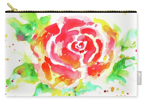 Warm Red Rose  Carry-all Pouch