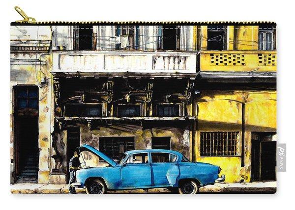 Warm Street Of Cuba Havana Carry-all Pouch