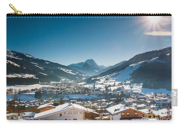 Warm Winter Day In Kirchberg Town Of Austria Carry-all Pouch