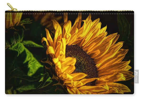 Carry-all Pouch featuring the photograph Warmth Of The Sunflower by Michael Hope