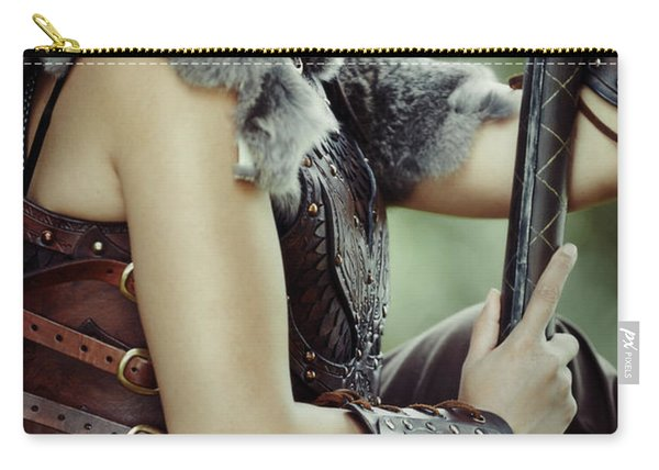 Warrior Princess In Battle Carry-all Pouch