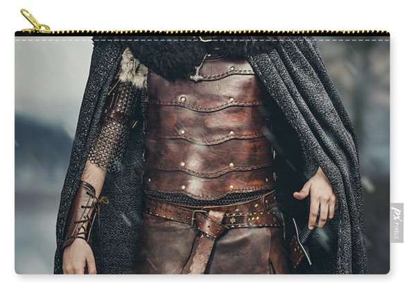 Warrior Wearing Helmet Carry-all Pouch