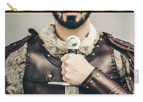 Warrior With Sword Carry-all Pouch