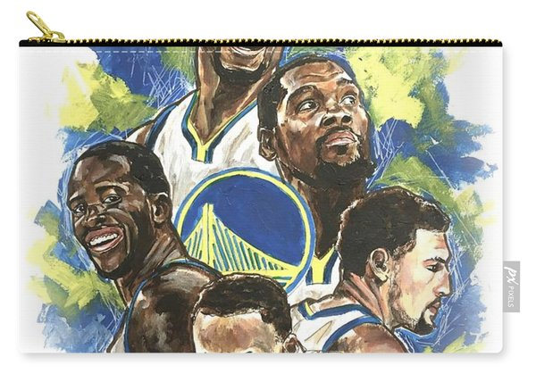Carry-all Pouch featuring the painting Warriors by Joel Tesch