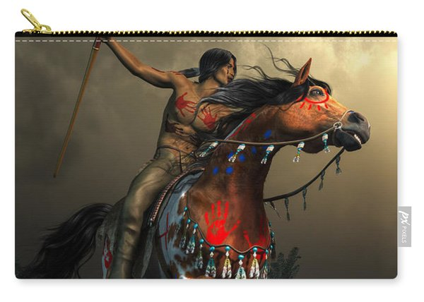 Warriors Of The Plains Carry-all Pouch