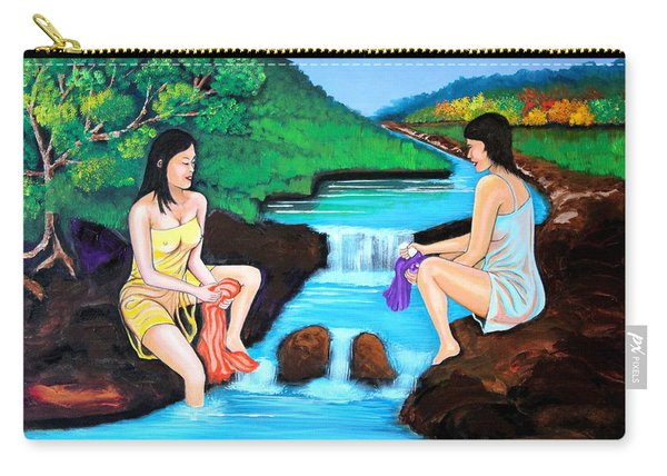 Washing In The River Carry-all Pouch