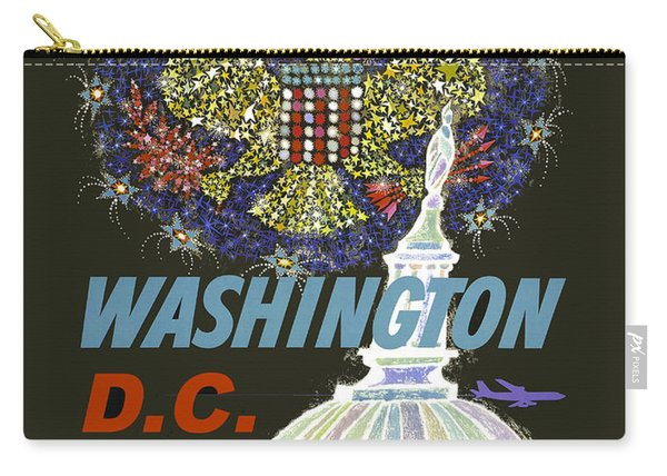 Washington D.c. Vintage Airline Poster Carry-all Pouch