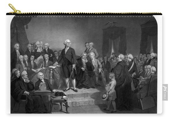 Washington Delivering His Inaugural Address Carry-all Pouch