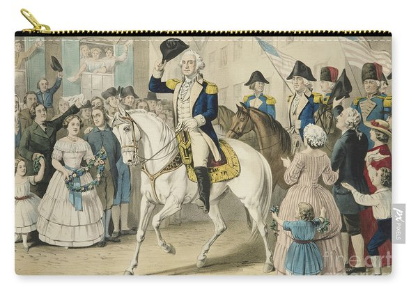 Washington Entering New York On The Evacuation Of The City By The British On Nov 25th 1783 Carry-all Pouch