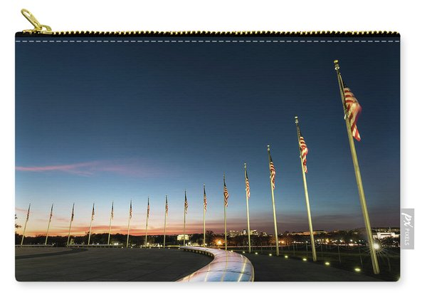Washington Monument Flags Carry-all Pouch