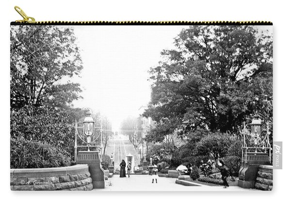 Washington Monument Grounds Baltimore 1900 Vintage Photograph Carry-all Pouch