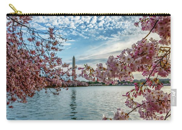 Washington Monument Through Cherry Blossoms Carry-all Pouch