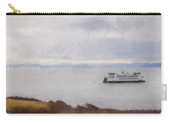 Washington State Ferry Approaching Whidbey Island Carry-all Pouch