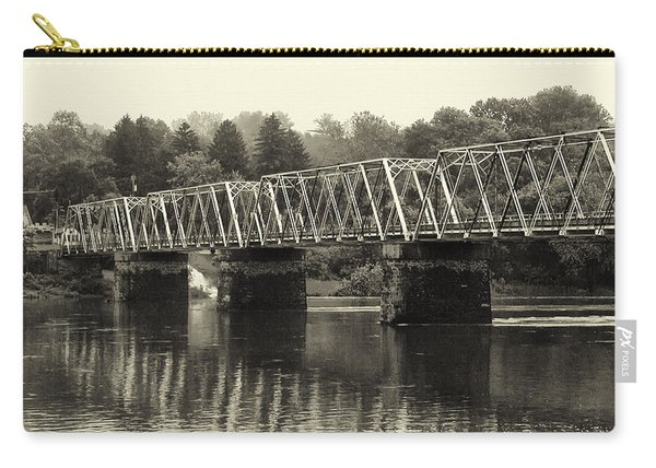 Washington's Crossing Bridge On A Rainy Day Carry-all Pouch