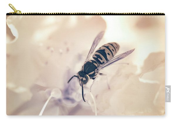 Carry-all Pouch featuring the photograph Wasp In Ir by Brian Hale