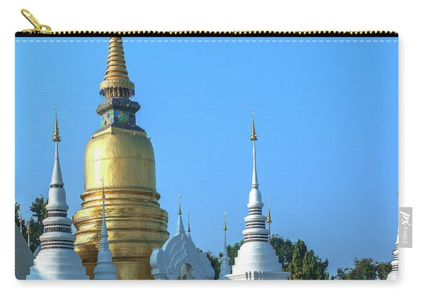 Wat Suan Dok Buddha Relics Chedi Dthcm0949 Carry-all Pouch