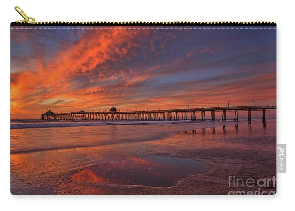 Carry-all Pouch featuring the photograph Watch More Sunsets Than Netflix by Sam Antonio Photography