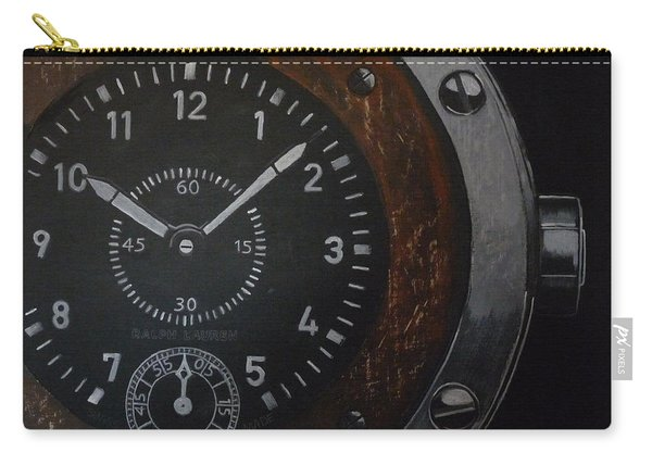 Carry-all Pouch featuring the painting Watch by Richard Le Page