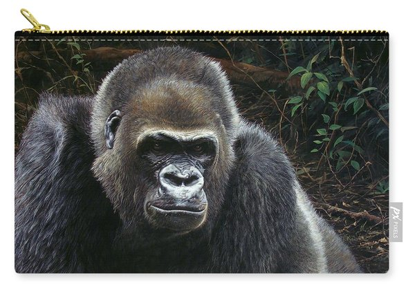 Carry-all Pouch featuring the painting Watchful Domain by Alan M Hunt