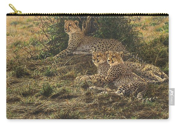 Carry-all Pouch featuring the painting Watching Mam by Alan M Hunt