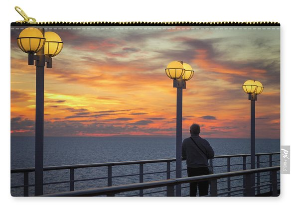 Watching The Sun Go Down Carry-all Pouch