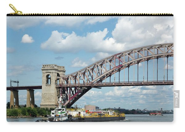 Hell Gate Bridge And Barge Carry-all Pouch
