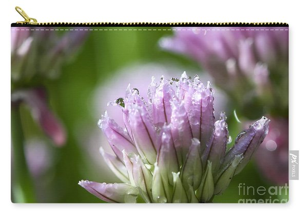 Water Droplets On Chives Flowers Carry-all Pouch
