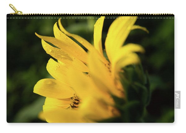 Water Drops And Sunflower Petals Carry-all Pouch