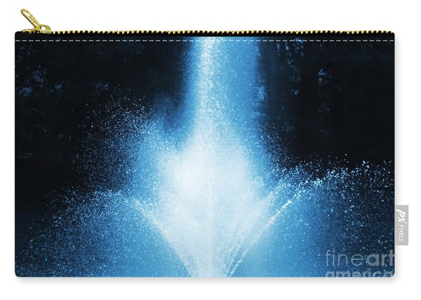 Water Fountain In Blue Carry-all Pouch