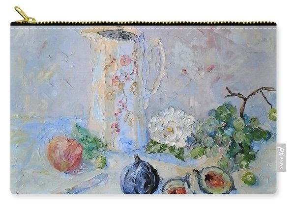 Water Jug, Camellia And Fruit Carry-all Pouch