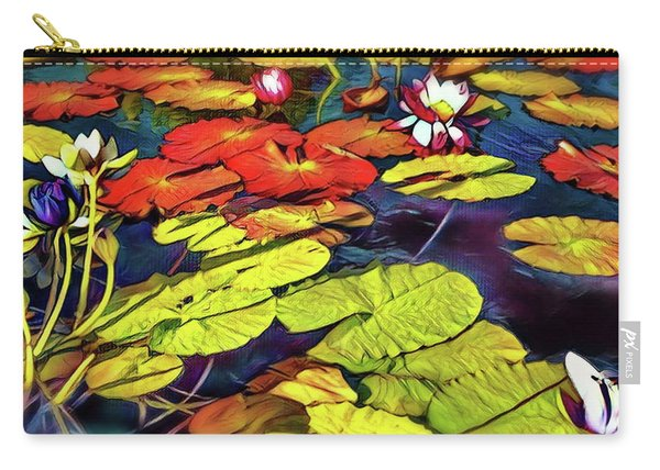 Water Lilly Pond Carry-all Pouch
