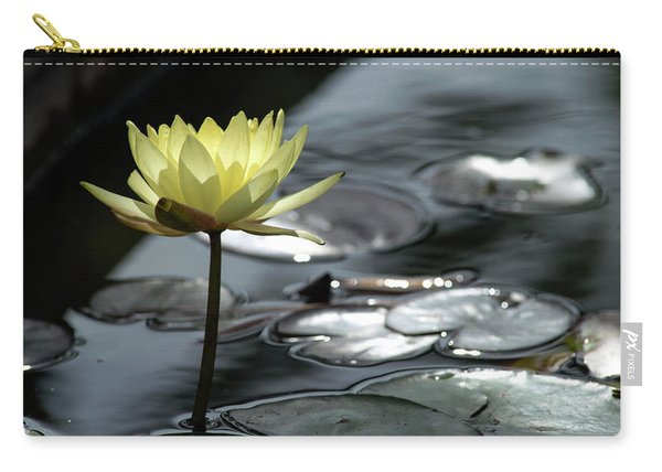 Water Lily And Silver Leaves Carry-all Pouch