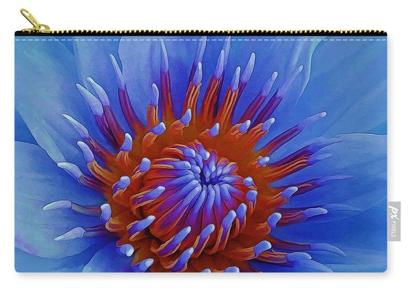 Water Lily Center Carry-all Pouch