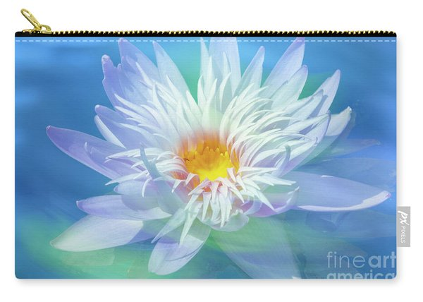 Water Lily In  Turquoise Pond Carry-all Pouch