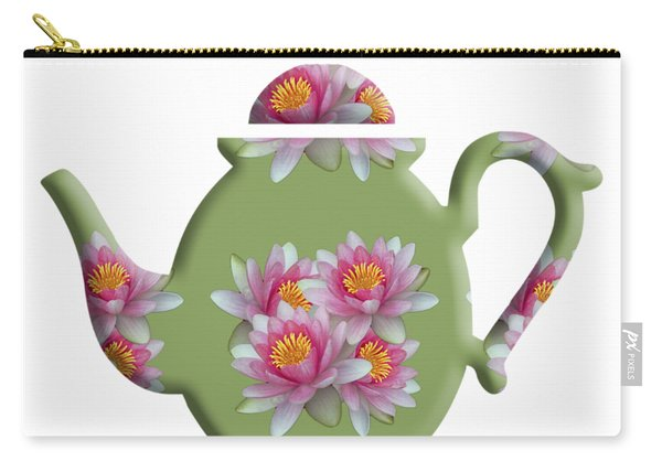 Water Lily Pattern Teapot Carry-all Pouch