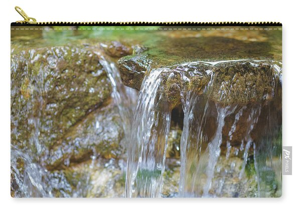 Carry-all Pouch featuring the photograph Water On The Rocks by Raphael Lopez