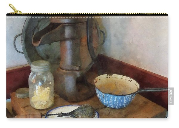 Water Pump In Kitchen Carry-all Pouch