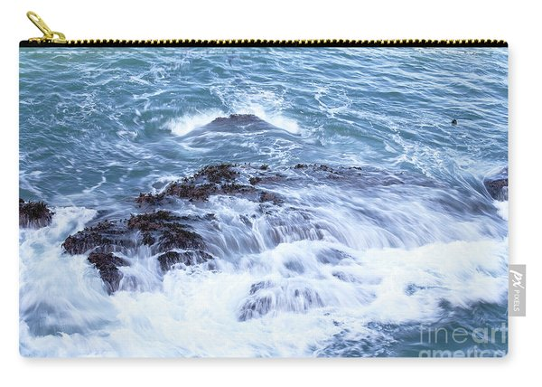 Carry-all Pouch featuring the photograph Water Turmoil by Richard J Thompson