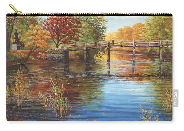 Water Under The Bridge, Old North Bridge, Concord, Ma Carry-all Pouch