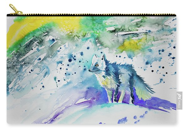 Watercolor - Arctic Fox Carry-all Pouch