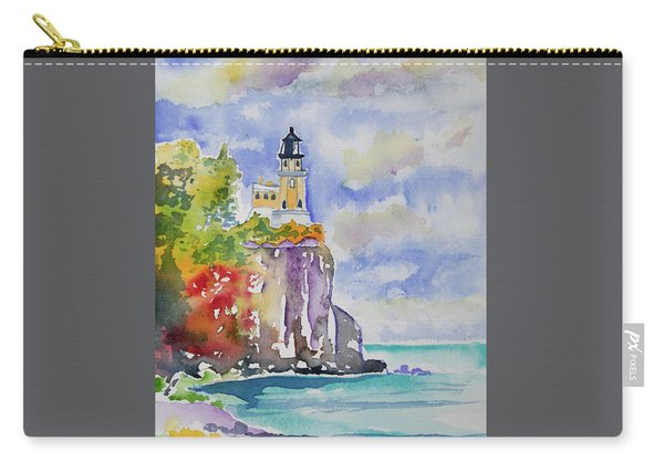 Watercolor - Autumn At Split Rock Lighthouse Carry-all Pouch