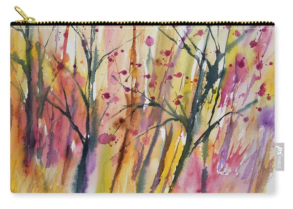 Watercolor - Autumn Forest Impression Carry-all Pouch